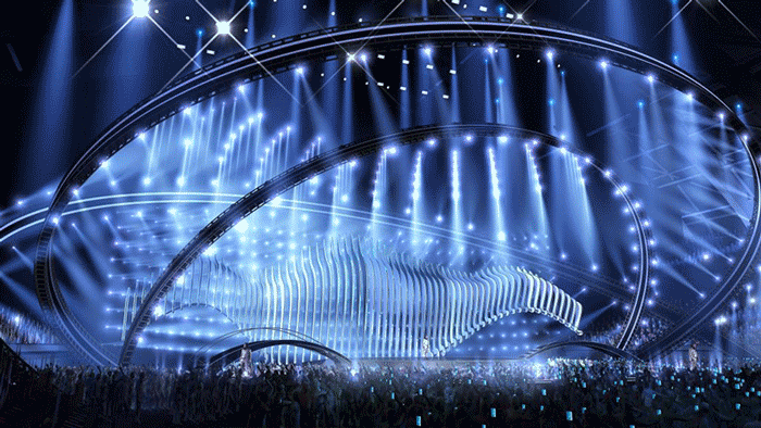 The stage of the 63rd Eurovision